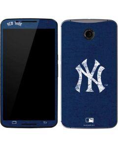 New York Yankees - Solid Distressed Google Nexus 6 Skin