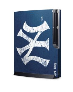 New York Yankees - Solid Distressed Playstation 3 & PS3 Slim Skin
