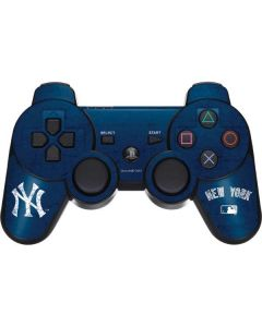 New York Yankees - Solid Distressed PS3 Dual Shock wireless controller Skin