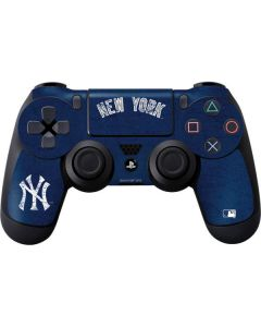 New York Yankees - Solid Distressed PS4 Controller Skin