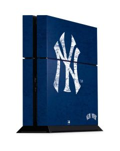 New York Yankees - Solid Distressed PS4 Console Skin
