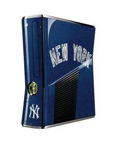 New York Yankees - Solid Distressed Xbox 360 Slim (2010) Skin