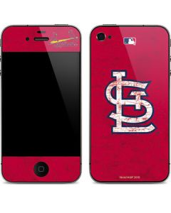 St. Louis Cardinals - Solid Distressed iPhone 4&4s Skin