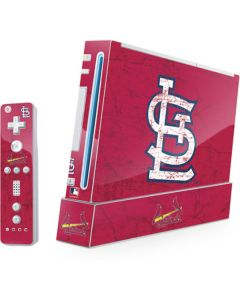 St. Louis Cardinals - Solid Distressed Wii (Includes 1 Controller) Skin