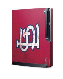 St. Louis Cardinals - Solid Distressed Playstation 3 & PS3 Slim Skin