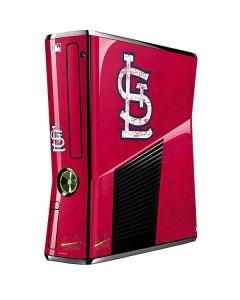 St. Louis Cardinals - Solid Distressed Xbox 360 Slim (2010) Skin