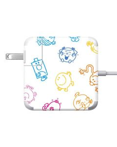 Mr Men Little Miss Characters Outline Apple Charger Skin