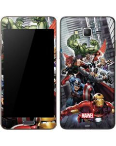 Avengers Team Power Up Galaxy Grand Prime Skin