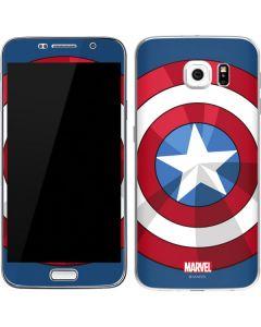 Captain America Emblem Galaxy S6 Skin