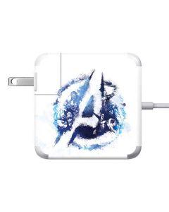 Avengers Blue Logo Apple Charger Skin
