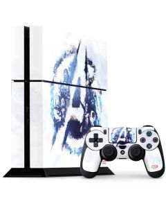 Avengers Blue Logo PS4 Console and Controller Bundle Skin