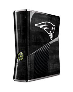 New England Patriots Black & White Xbox 360 Slim (2010) Skin