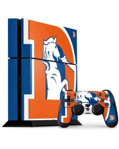Denver Broncos Retro Logo PS4 Console and Controller Bundle Skin