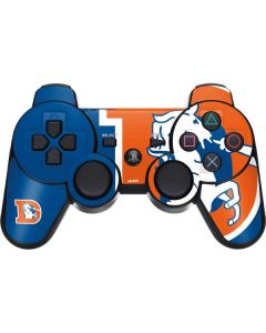 Denver Broncos Retro Logo PS3 Dual Shock wireless controller Skin