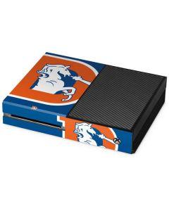 Denver Broncos Retro Logo Xbox One Console Skin