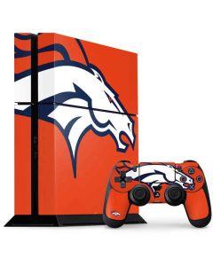 Denver Broncos Large Logo PS4 Console and Controller Bundle Skin