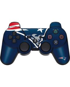New England Patriots Large Logo PS3 Dual Shock wireless controller Skin