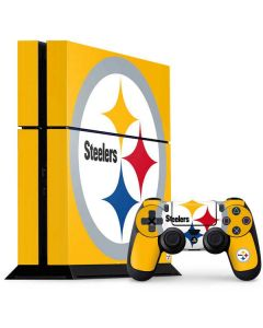 Pittsburgh Steelers Large Logo PS4 Console and Controller Bundle Skin