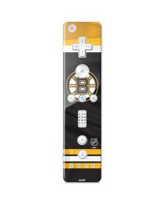 Boston Bruins Home Jersey Wii Remote Controller Skin