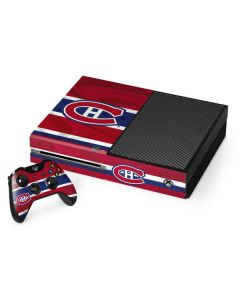 Montreal Canadiens Home Jersey Xbox One Console and Controller Bundle Skin