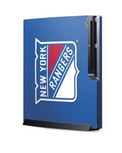 New York Rangers Solid Background Playstation 3 & PS3 Slim Skin