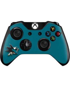 San Jose Sharks Solid Background Xbox One Controller Skin