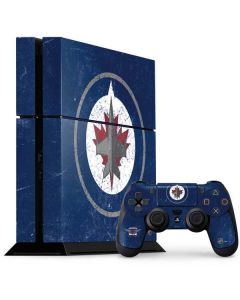 Winnipeg Jets Distressed PS4 Console and Controller Bundle Skin