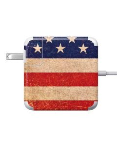 Distressed American Flag Apple Charger Skin