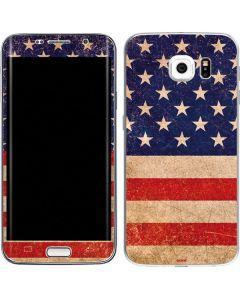 Distressed American Flag Galaxy S6 Edge Skin