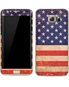 Distressed American Flag Galaxy S7 Edge Skin