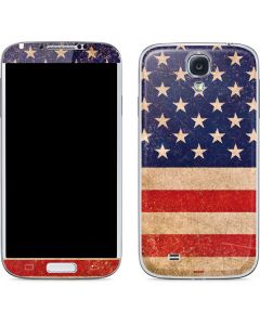 Distressed American Flag Galaxy S4 Skin
