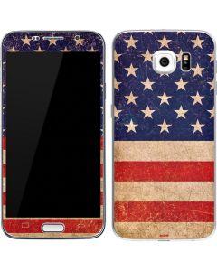 Distressed American Flag Galaxy S6 Skin