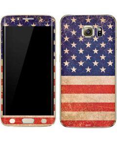 Distressed American Flag Galaxy S6 edge+ Skin