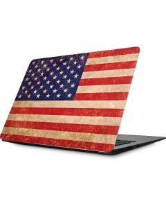 Distressed American Flag Apple MacBook Skin