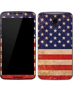 Distressed American Flag Google Nexus 6 Skin