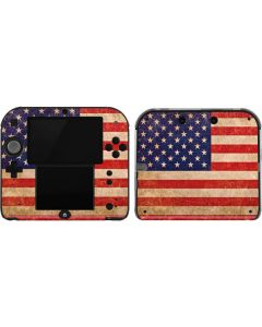 Distressed American Flag 2DS Skin