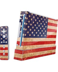 Distressed American Flag Wii (Includes 1 Controller) Skin