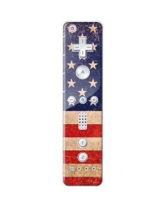 Distressed American Flag Wii Remote Controller Skin