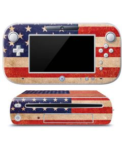 Distressed American Flag Wii U (Console + 1 Controller) Skin