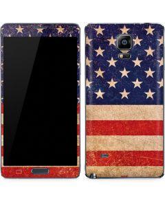 Distressed American Flag Galaxy Note 4 Skin