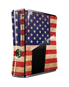 Distressed American Flag Xbox 360 Slim (2010) Skin
