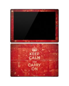 Keep Calm and Carry On Distressed Surface Pro 3 Skin