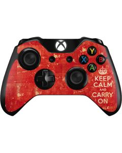 Keep Calm and Carry On Distressed Xbox One Controller Skin