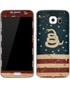 Dont Tread On Me American Flag Galaxy S7 Skin