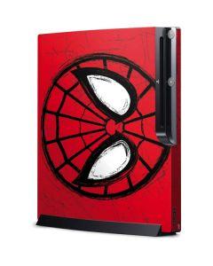 Spider-Man Face Playstation 3 & PS3 Slim Skin