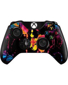 Chromatic Splatter Black Xbox One Controller Skin
