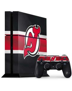New Jersey Devils Jersey PS4 Console and Controller Bundle Skin