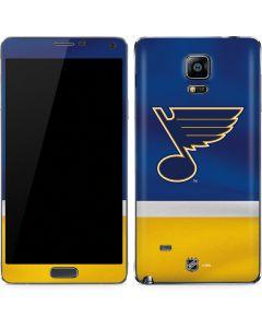 St. Louis Blues Jersey Galaxy Note 4 Skin