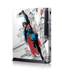 Flying Superman Playstation 3 & PS3 Slim Skin