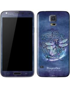Dragonfly Celtic Knot Galaxy S5 Skin